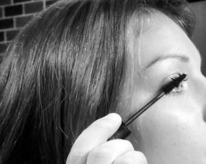 Applying my Lash Stilleto Mascara